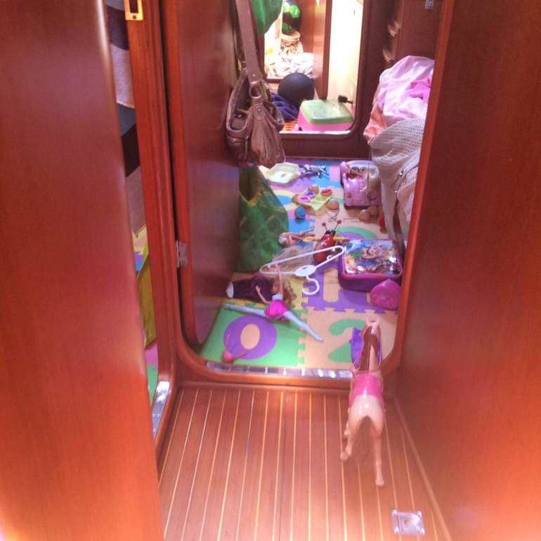 Alice's room covered in toys!