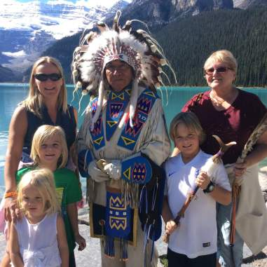 Calgary, Canada - with a native Canadian chief