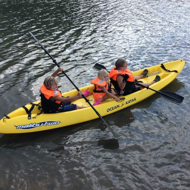 The kids take the kayak on its maiden voyage - Great stuff!